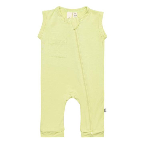 Zipper Sleeveless Romper, Kiwi