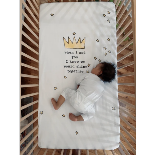 Organic Cotton Crib Sheet, Crown