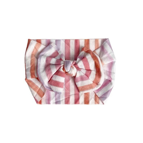 Classic Knot Bow, Summer Stripes