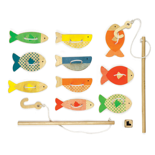 Wooden Game, Fishing Around