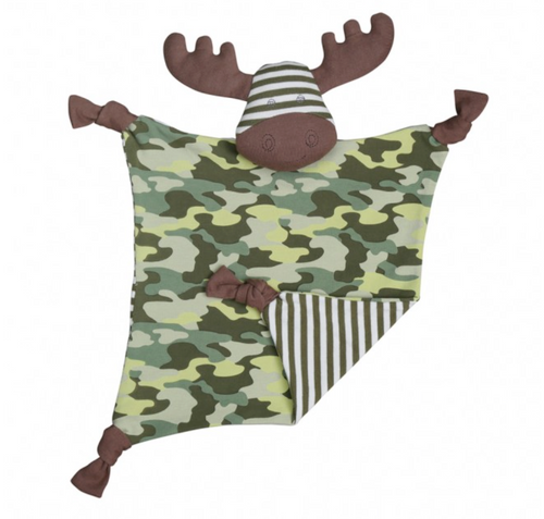 Military Moose Organic Security Blanket