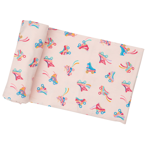 Bamboo Stretch Swaddle, Roller Skates