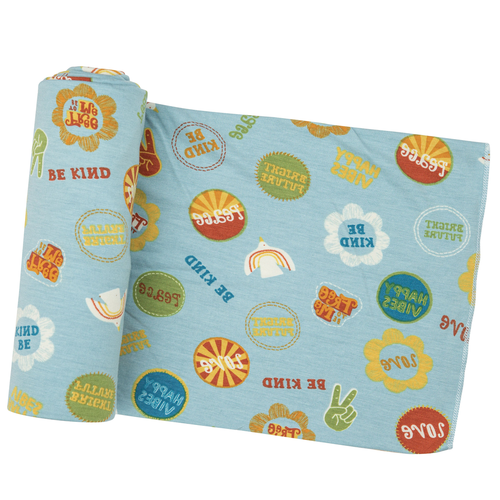 Bamboo Stretch Swaddle, Good Vibes