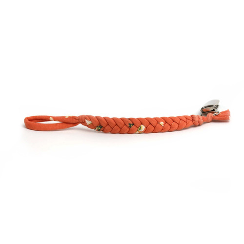 Softy Pacifier Clip, Tangerine