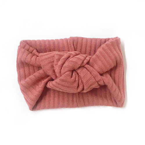 Twist Knot Headband, Rose Mauve