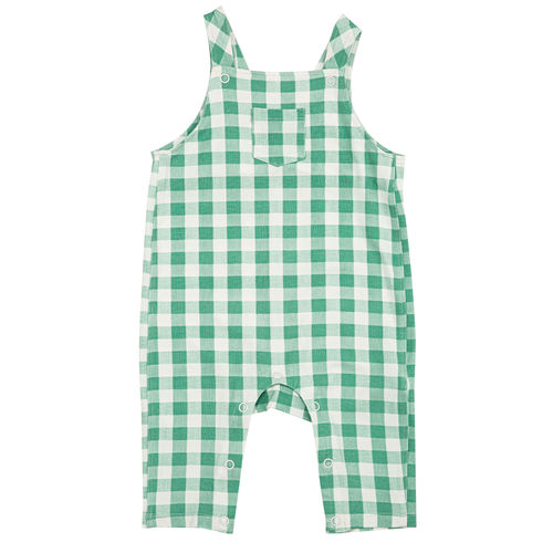 Pocket Coveralls, Green Gingham