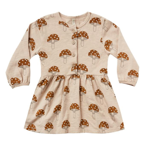 Rylee & Cru Button Up Dress, Mushroom