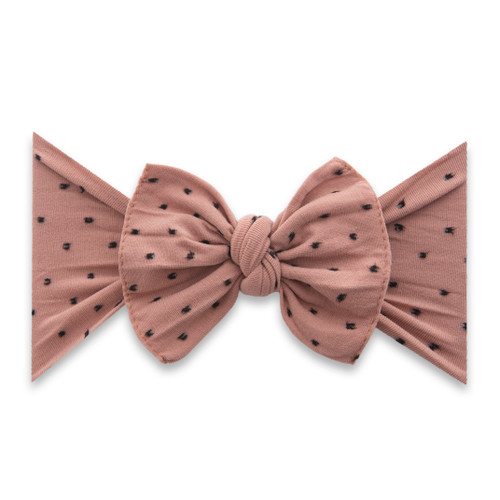 Knot Bow, Shabby Putty w/ Black Dots