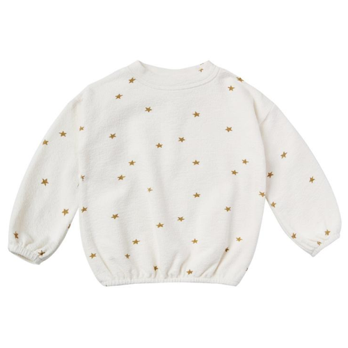 Rylee & Cru Slouchy Pullover, Ivory Star