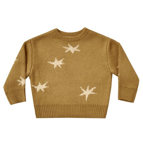 Rylee & Cru Knit Pullover Sweater Stars, Goldenrod