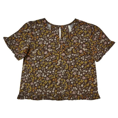 Rylee & Cru Rory Top, Dark Floral