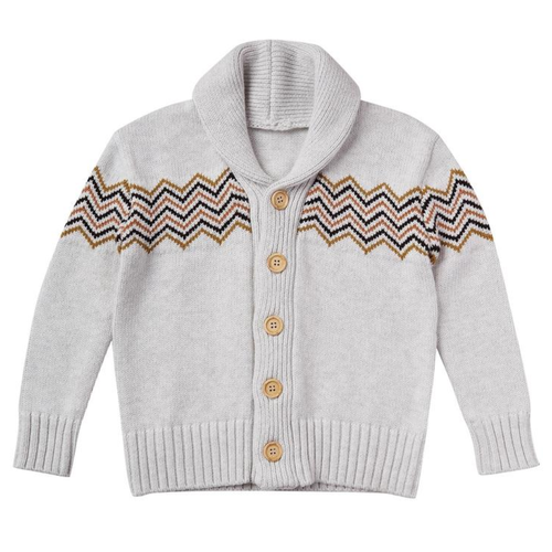 Rylee & Cru Knit Pullover Cardigan, Soft Grey