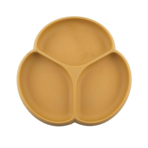 Silicone Suction Plate, Camel