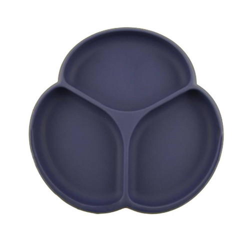 Silicone Suction Plate, Midnight Blue