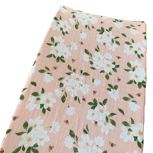 Muslin Changing Pad Cover, Magnolia