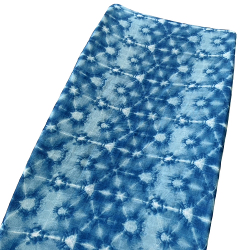 Muslin Changing Pad Cover, Indigo Tie Dye