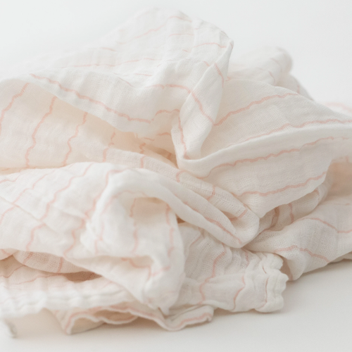 Muslin Swaddle, Pink Stripe