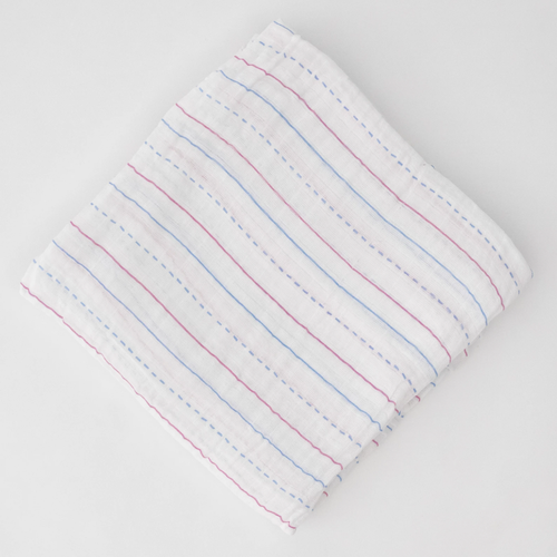 Muslin Swaddle, Letter Lines