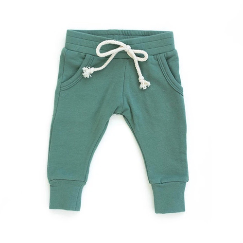 French Terry Joggers, Jade
