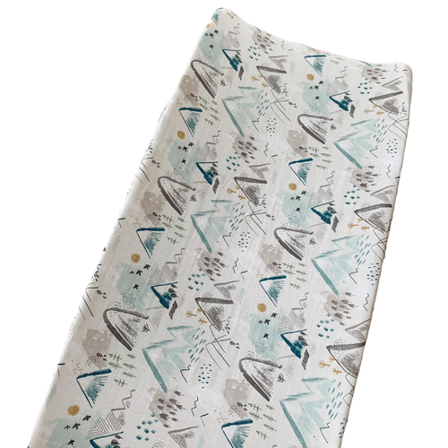 Muslin Changing Pad Cover, Mountain