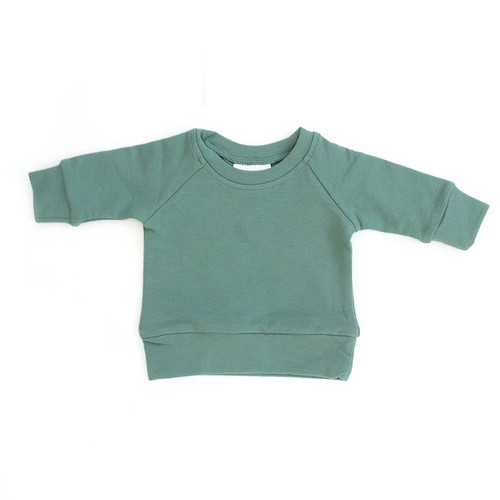 French Terry Crewneck Sweatshirt, Jade