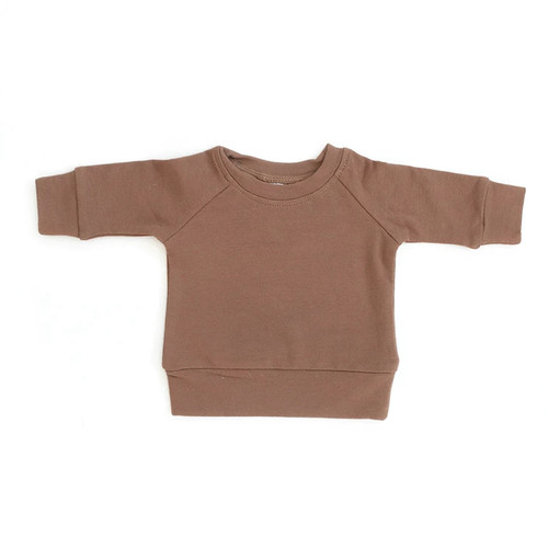 French Terry Crewneck Sweatshirt, Camel