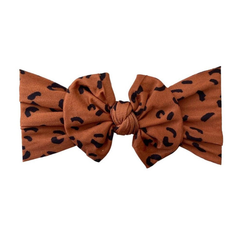 Classic Knot Bow, Fall Leopard