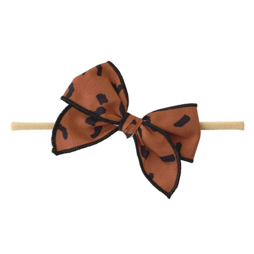 Skinny Edged Bow, Fall Leopard