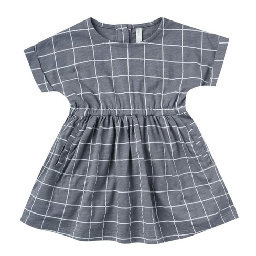 Rylee & Cru Kat Dress, Wavy Check