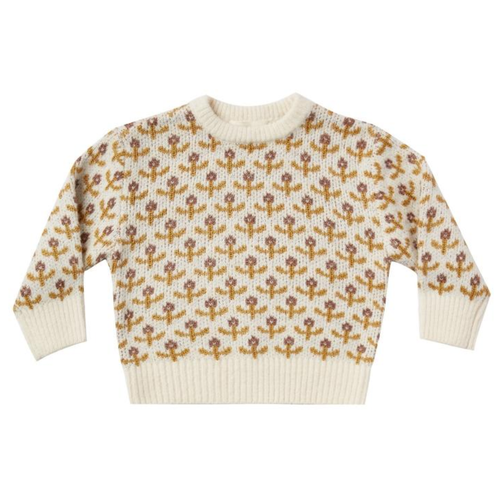 Rylee & Cru Knit Pullover, Flower Stitch