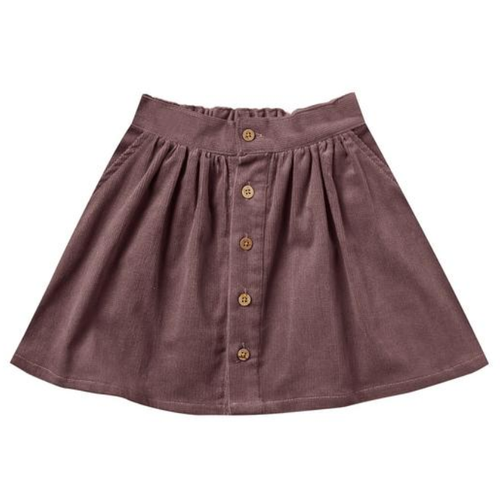 Rylee & Cru Button Front Mini Skirt, Wine