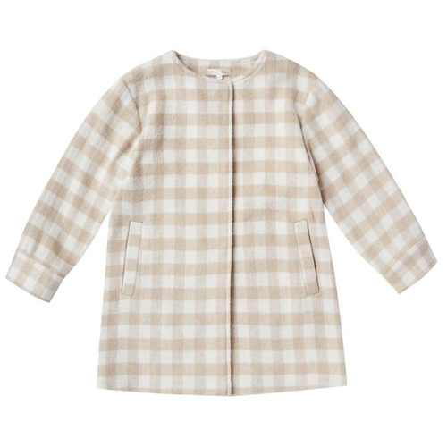 Rylee & Cru No Collar Coat, Oat