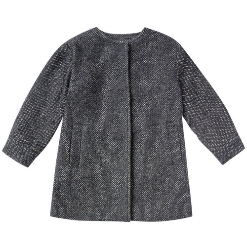 Rylee & Cru No Collar Coat, Washed Indigo