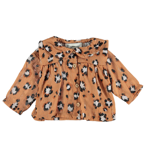 Peter Pan Collar Shirt, Animal Print