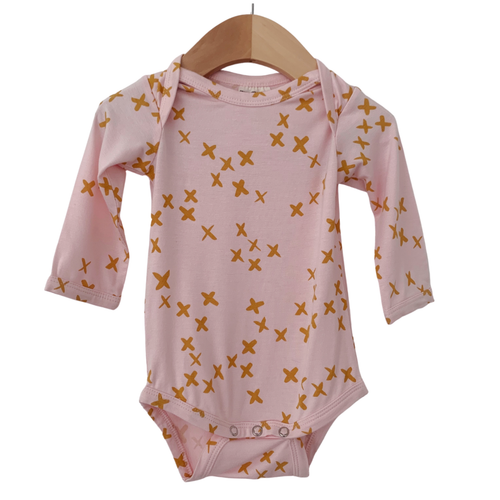 Long Sleeve Bodysuit, Pink Kisses