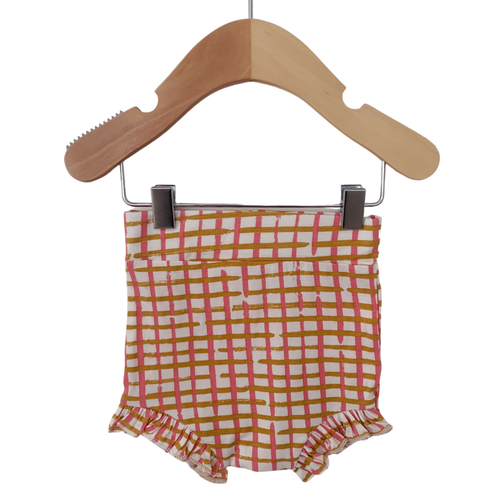 Ruffle Bloomer, Pink Check