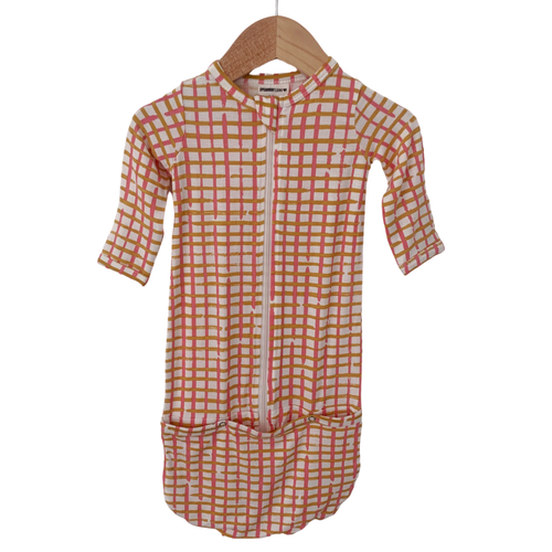 Convertible Zip Gown, Pink Check
