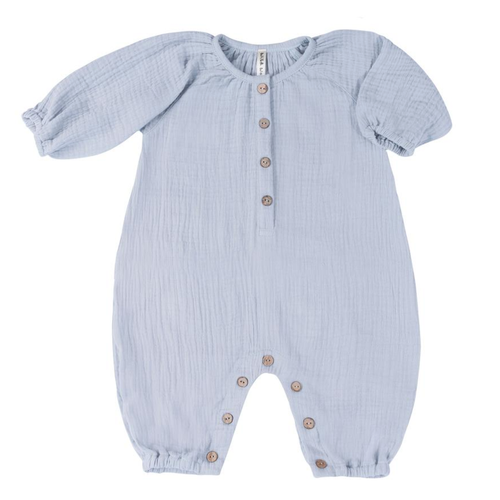 Bubble Jumpsuit, Blue Fog