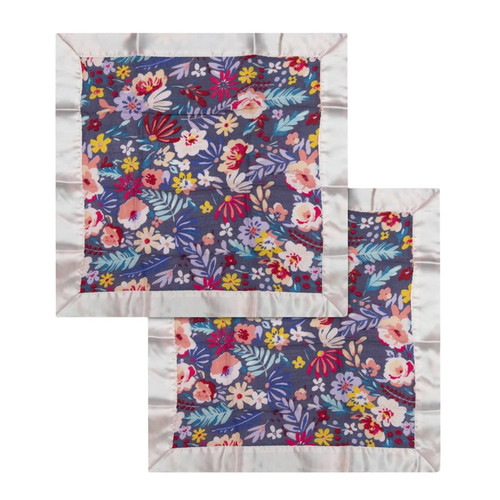 Security Blanket 2-pack, Dark Field Flowers