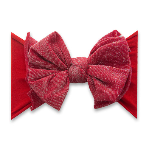 Metallic FAB-BOW-LOUS Bow, Red