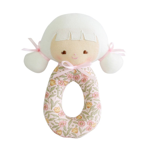 Audrey Grab Rattle, Lily Pink