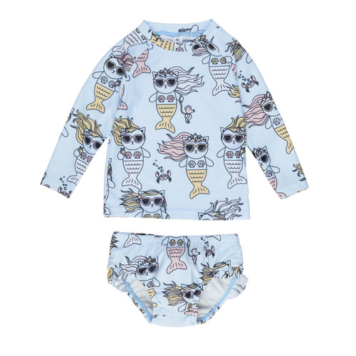 Rashguard 2-Piece Set, Meow-Maid