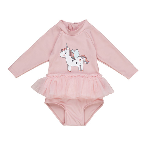Long Sleeve Ballet Swimsuit, Unicorn