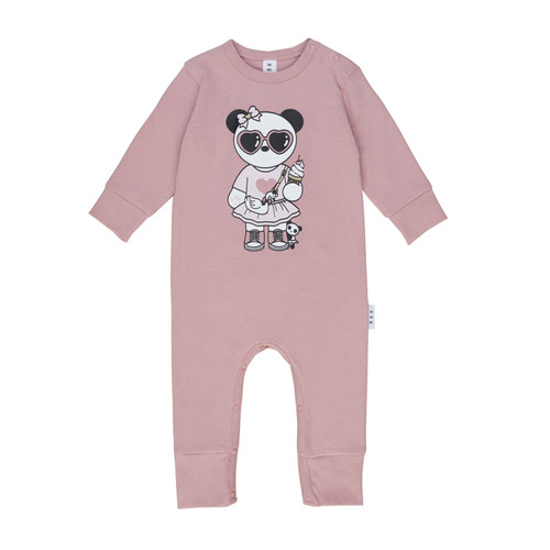 Long Sleeve Romper, Panda Girl