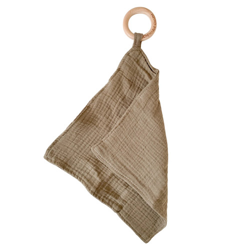 Muslin Teething Ring, Flax