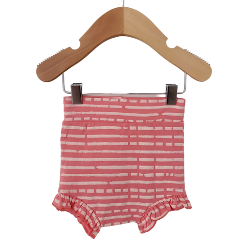 Ruffle Bloomer, Pink Stripe