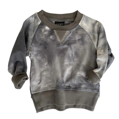 Pullover, Charcoal Tie-Dye