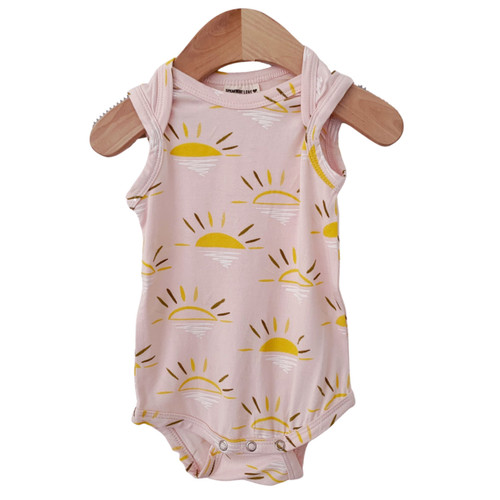 Sleeveless Bodysuit, Pink Sun