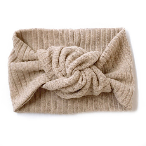 Twist Knot Headband, Sand