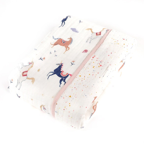 Muslin Quilt, Unicorn Magic